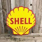 "Shell Gasoline Gas Diecut 12"" Metal Tin Sign Vintage Garage Service Station New"