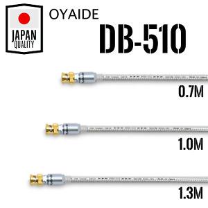 Oyaide DB-510 0.7m / 1.0m / 1.3m BNC-BNC Digital Analog Cable High Quality SLSB