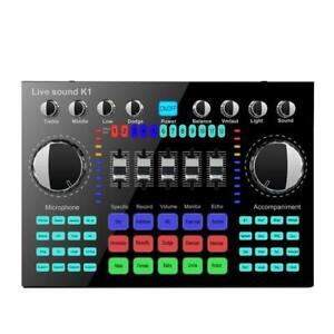 K1 Pro Digital Audio Mixer Computer Voice Mixing Console HiFi Live Sound Card
