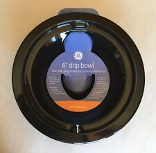 """GE 5607 6"""" Burner Drip Bowl (Black) Porcelain-plated"""