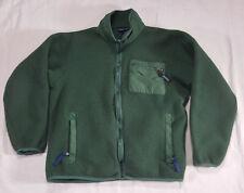 Patagonia Retro Fleece Jacket LARGE Full Zip Green #25021 VTG 90s Made in USA