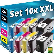 10 CHIP PATRONEN für HP-364XL  5510 5514 5515 5520 5522 5524 6510 6520 7510 7520