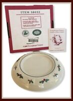 Longaberger Traditional Holly Pottery Pillar Candle Holder #38032 - NEW In Box*