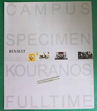RENAULT SCOOTER KOURANOS SPECIMEN CAMPUS FULLTIME CATALOGO BROCHURE  CATALOG 2