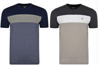 Mens Kangol Plus Big Size Crew Neck Wide Stripe Panal T Shirt Top 2XL - 6XL