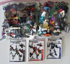 Huge 3lb+ LOT Transformers Construct Bots Miscellaneous Pieces + 3 Instructions