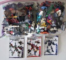 Huge 3lb+ LOT Transformers Construct Bots Miscellaneous Pieces + 3 Instructions