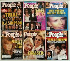 *(6) Lot of PEOPLE Magazine! O.J. Simpson Ron Goldman Nicole Brown Murder Trial!