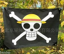 2018 Hot One Piece Anime Luffy Skull Pirate Drapeau Flag Banner Cosplay NNNNN