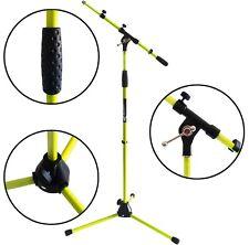 KEEPDRUM MS106 YW Gelb Mikrofonständer Mikrofonstativ mit Galgen u Metall-Sockel