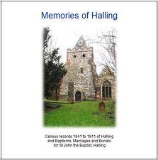 Halling, Kent - CD contains Parish Registers & Census Return Transcripts