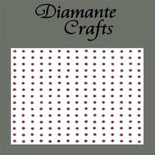 225 X 2mm Burgundy Diamante Self Adhesive Rhinestone Body Nail Vajazzle Gems