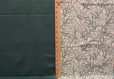 Lot 2 Piece Fabric Robert Allen Leaves Leaf Green & White w/ Textured Dot Dots