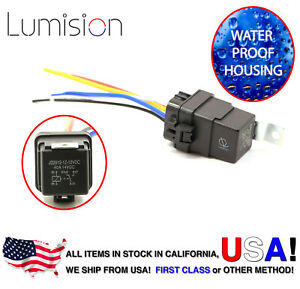 Lumision 40AMP 12V DC Water proof Relay and Harness 5-PIN SPDT JD2912 40A