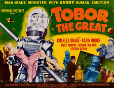 Tobor the Great Robot Movie Poster Science Fiction Giclee Canvas Print 26x20