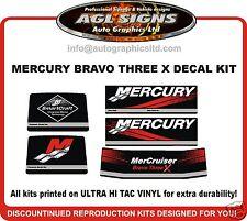 Mercruiser Bravo Three X  Outdrive Decal Kit  reproductions mercury 3
