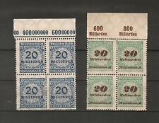 H14093  Deutsches Reich  Mi. Nr. 319 + 329  P OR  4 er Block Postfrisch