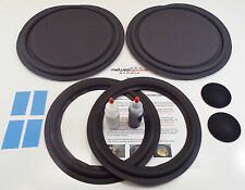 "ESS AMT-10b Speaker Repair Refoam Kit 12"" Passive & 10"" Woofer w/ Dust Caps!"