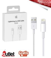 CAVO APPLE 2 METRI LIGHTNING ORIGINALE USB BLISTER IPHONE 5 6 7 8 X IPAD