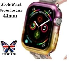 Apple Smart Watch Face Screen Protector Case Cover 44mm Purple And Yellow