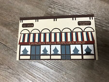 Cats Meow Wood Building Village- Chagrin Falls Popcorn Shop Ice Cream Candy Rare