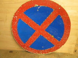 Clearway  road sign 60 cm in diameter. traffic sign.street sign