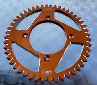 JMP Alu Kettenrad 48 Z, KTM 250, 350 Freeride, E-Bike, #520, orange, 4245-48-ORG