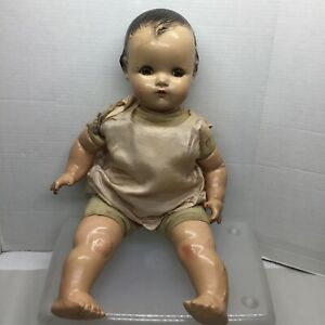 """MADAME ALEXANDER COMPOSITION BABY DOLL 1930s ANTIQUE CRIER DOLL 21"""""""