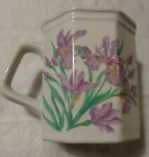 Purple Iris Jane Bowen Coffee Cup Mug by Flowers, Inc. 1991