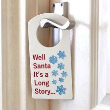 Beh Babbo Natale è una lunga storia... STAFFA PORTA NOME PLACCA Ragazzo o Ragazza ROOM SIGN