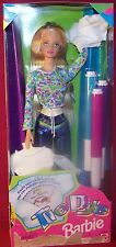 Mattel Create Cool Tie Dye Designs With 3 Markers Barbie Doll MIB NRFB