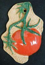 Red TOMATO Vegetable Handmade Ceramic Stoneware Tile Kitchen Decor Garden Marker