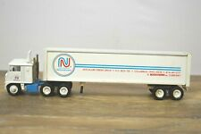Winross White Semi Cab Over Truck with Trailer NationaLease Columbus 1:64 Scale