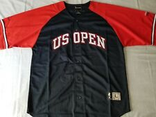 Vintage Tennis US Open 2000 Baseball Style Jersey Red White Blue Adult Sz Large