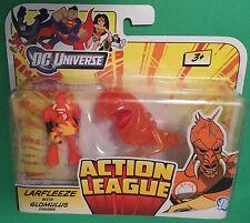 """Action League LARFLEEZE & GLOMULUS 2.5"""" figure DC Universe Mattel JUSTICE new"""