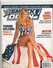 WWE Divas SMACK DOWN wrestling magazine TORRIE WILSON w GIANT poster 7-05