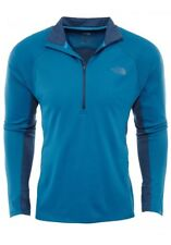 North Face Momentum 1/2 Zip Mens A2Th2-Lup Blue Jersey Fleece Pullover Size Xl