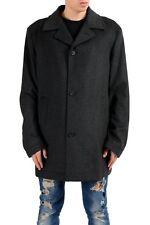 "Hugo Boss ""dais2"" Men's Wool Cashmere Gray Three Button Peacoat US 2xl It 56"