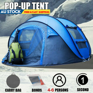 Instant Up Camping Tent 5-8 Person Pop up Tents Family Hiking Dome Waterproof