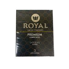 Royal Latex Condoms Premium Lubricated - Chocolate 3-Pack