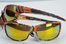 VERTX Premium Sport CAMO Sunglasses New Wrap Around 56304 ORANGE