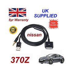 For Nissan 370Z iPhone iPod USB & Aux Cable replacement (Black)