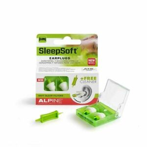 NEW ALPINE Hearing Protection SleepSoft Bouchons d'Oreille + 1 Embout Nettoyant