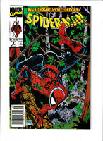 Spider-man Marvel Comics #8 NM- 9.2 Newsstand Todd McFarlane Wolverine 1991