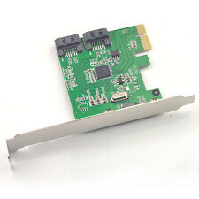 PCI Express SATA 6G Card PCI-e to 2x SATA3.0 Adapter RAID 0,1 Marvell 88SE9128