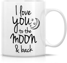 Funny Mug - I Love You to The Moon & Back 11 Oz Ceramic Coffee Mugs - Funny,.