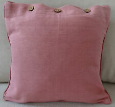 """PLAIN DYED CUSHION COVER """"DUSTY PINK"""" 40 x 40 SCATTER, COTTON CUSH COVER"""