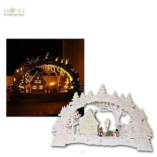 Led Candle Arches Village Illuminated Arch Window Lights Wooden, 10 Leds