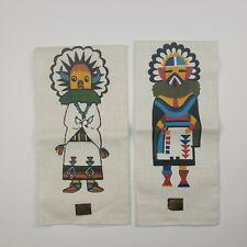 Navajo Hand Printed Linen Towels Napkins Bahah Zhonie Nizhonie Fabrics