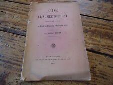 ODE A L' ARMEE D' ORIENT PROFIT BLESSES DU 8 SEPTEMBRE 1855 E. SERRET ENVOI